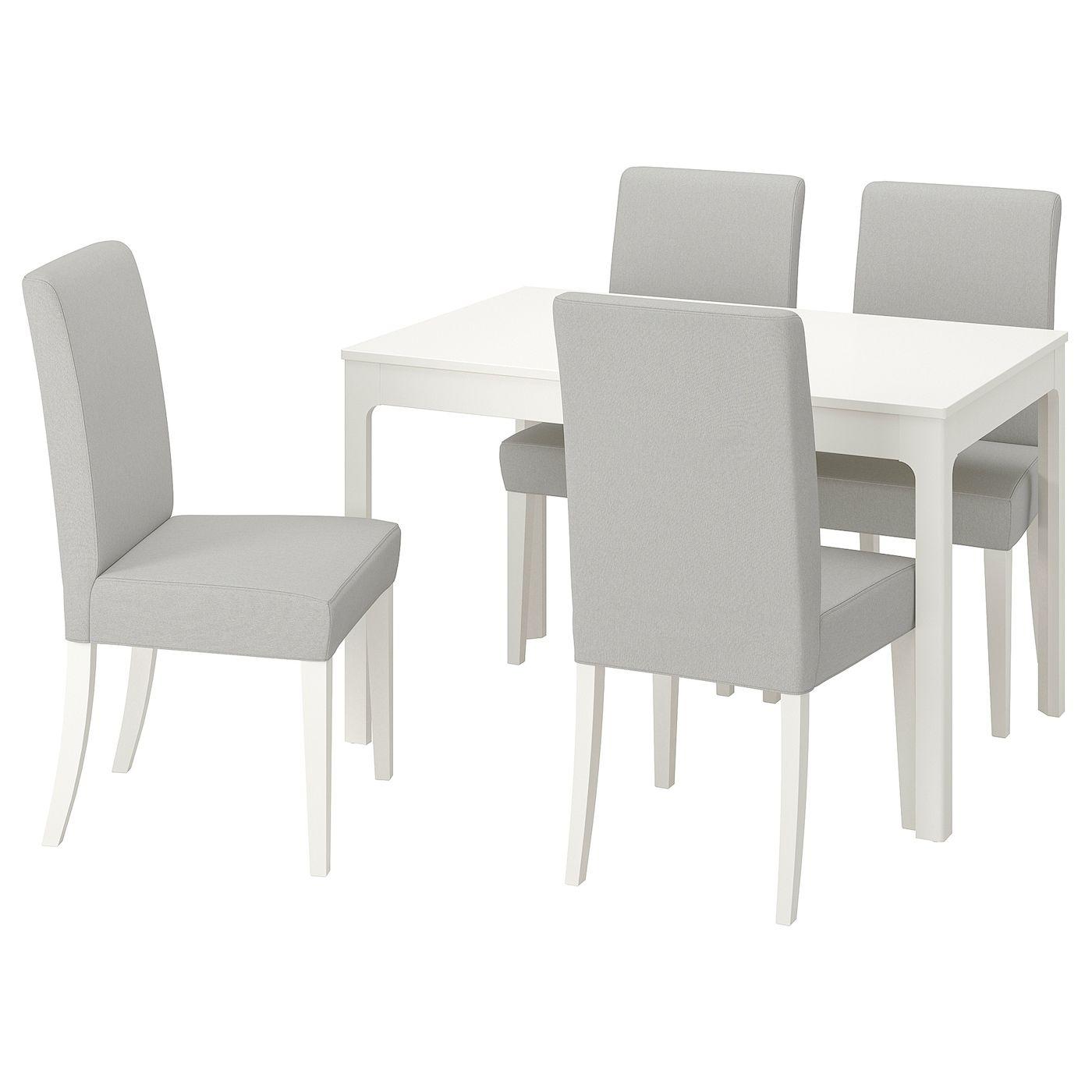 Ekedalen Henriksdal Table And 4 Chairs White Orrsta Light
