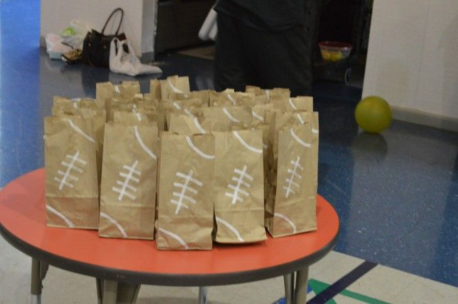 Goody bags I made for my sons party