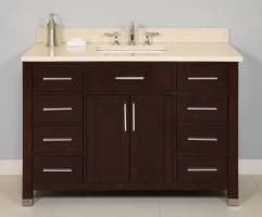 48 Inch Single Sink Modern Dark Cherry Bathroom Vanity With Choice Captivating Cherry Bathroom Vanity Decorating Design