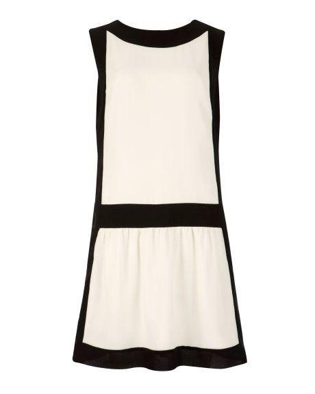 IMOGINE - Colour block dress - Ecru | Womens | Ted Baker UK