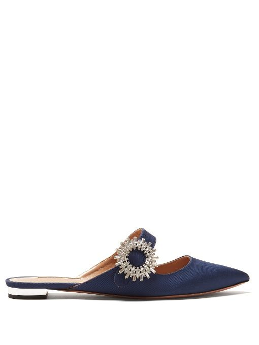 Aquazzura Blossom backless leather loafers Sale Inexpensive Cheapest Price 24fgTcVdD3