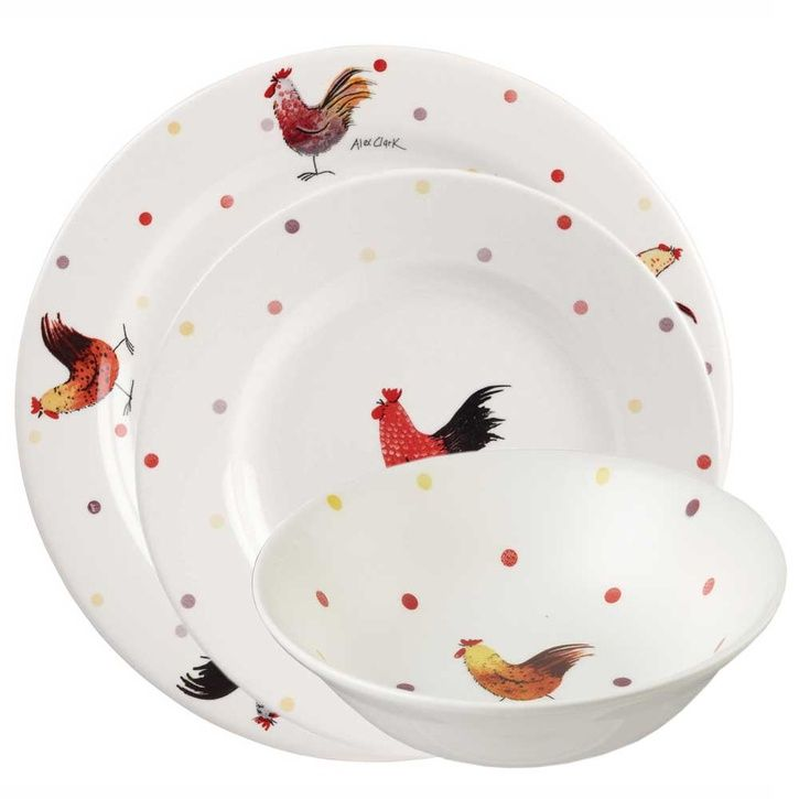 Churchill China - Alex Clark Rooster 12-pc Set ☆Check out the link  sc 1 st  Pinterest & Churchill China - Alex Clark Rooster 12-pc Set ☆Check out the link ...