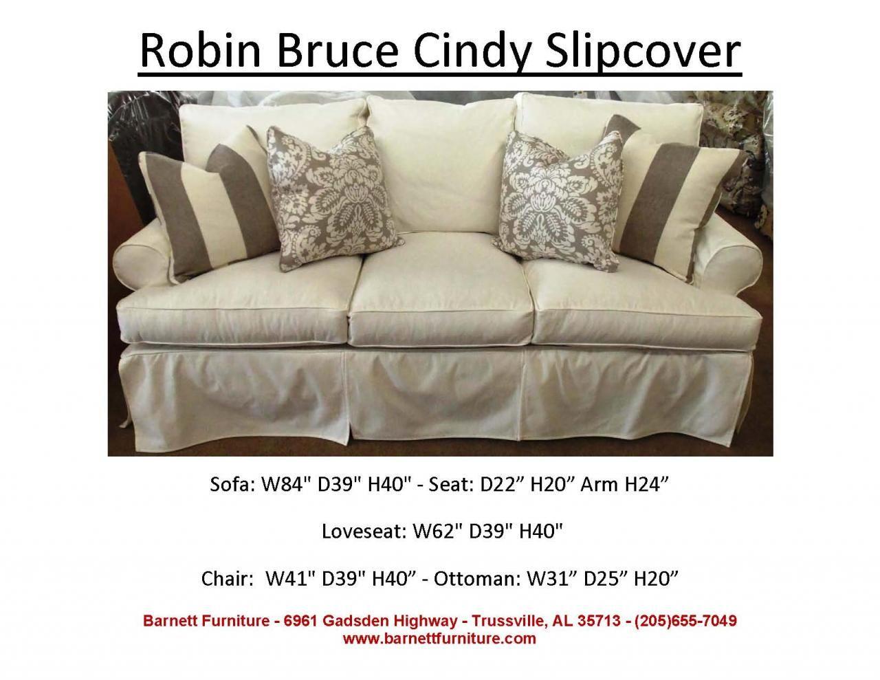 Nantucket 2 seat slipcover queen sleeper sofa rowe furniture rowe - Robin Bruce Cindy Slipcover Sofa You Choose The Fabric