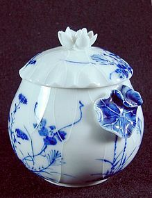 A Japanese Covered Jar – Lotus and Butterflies - Meiji