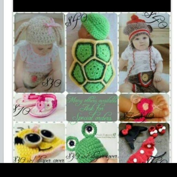 Photo props Custom made to order Infant photo props. Prices vary from 30-40  if you have something in mind let me know. Can also visit fb page 'wee stitch' for more pix/ideas and prices. Thanks! Other