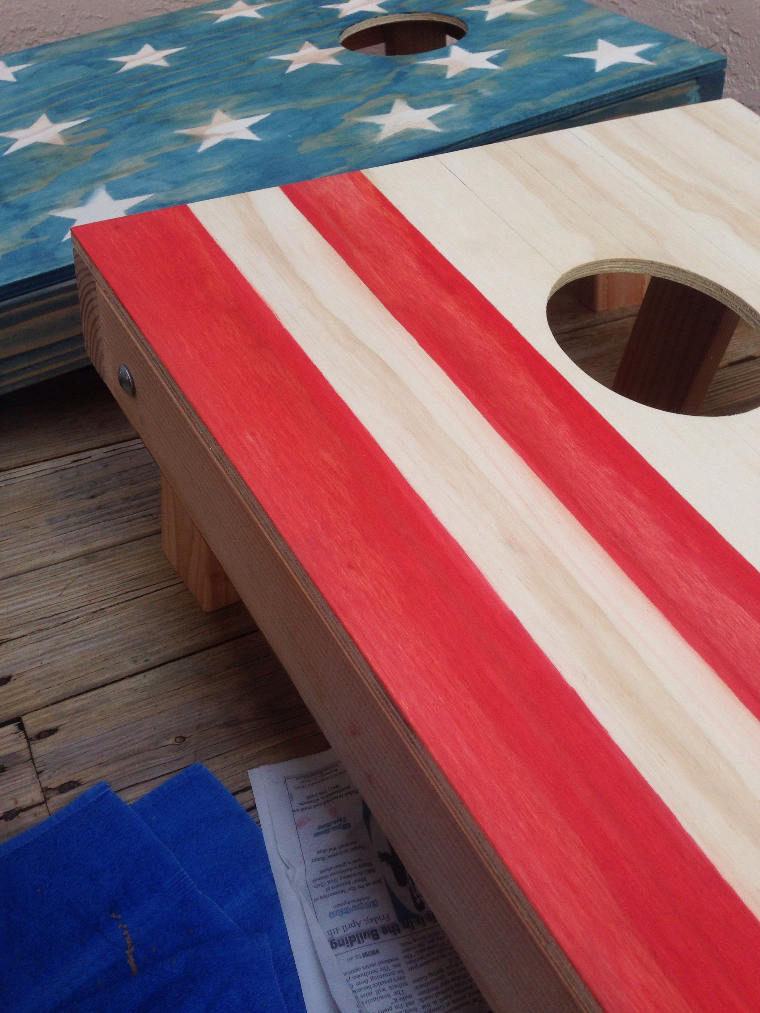 Diy Cornhole Boards With Diy Stain Take Industrial Oil