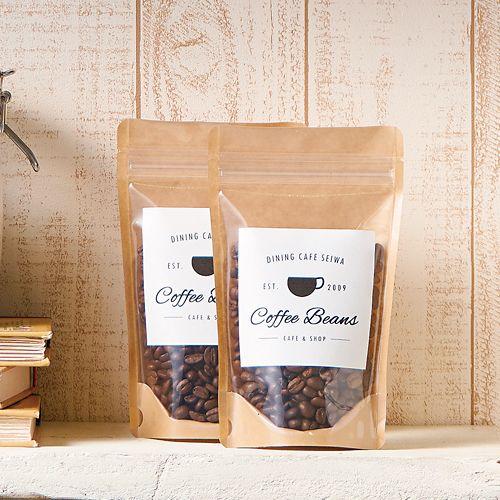 コーヒー豆 透明チャック袋 パッケージ ティーパッケージ 食べ物のパッケージデザイン 食品の包装