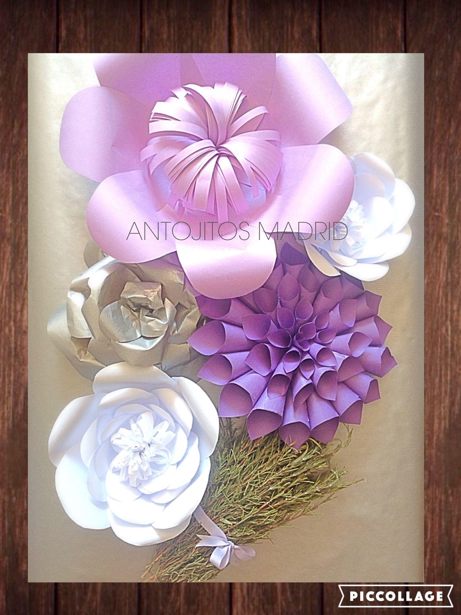 Flores Gigantes De Papel Giant Flower Paper Flores Para Eventos