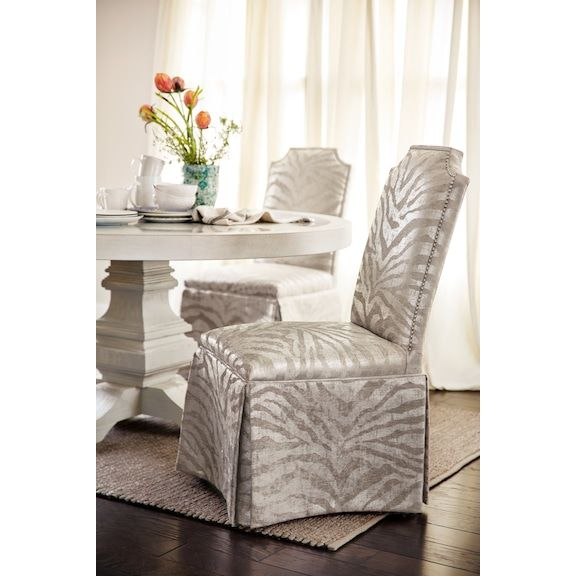 Zahara Side Chair   Platinum | Value City Furniture And Mattresses