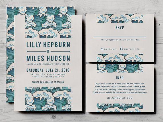 Japanese Wedding Invitation Set Including Formal Rsvp And Etsy Wedding Invitation Sets Wedding Invitations Japanese Wedding