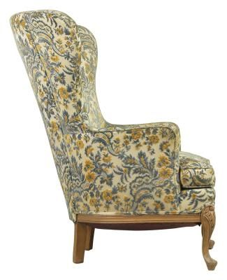 How to Make Your Own Slip Covering for a Wingback Chair ...