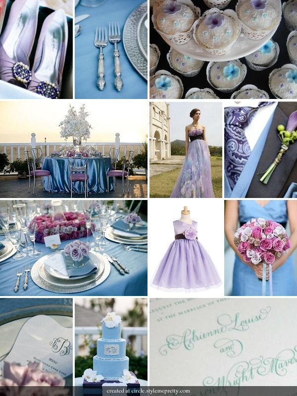 Pale Blue And Lilac Wedding Love This Color Combo Purple