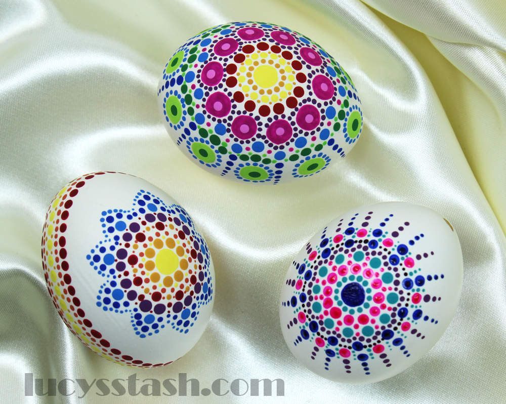 Easter Eggs Decorated With Nail Polish