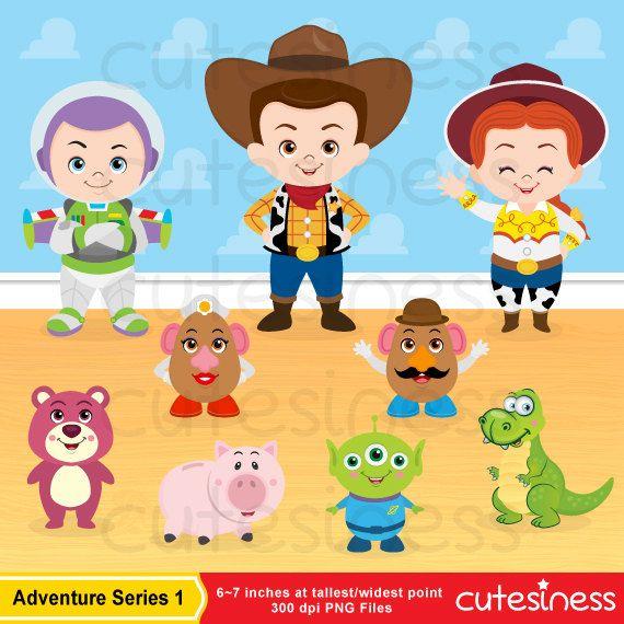 Toy Story Digital Clipart Toy Story Clipart Toy By Cutesiness 6 00 Personagens Da Disney Bebes Bebe Da Disney Arte Infantil