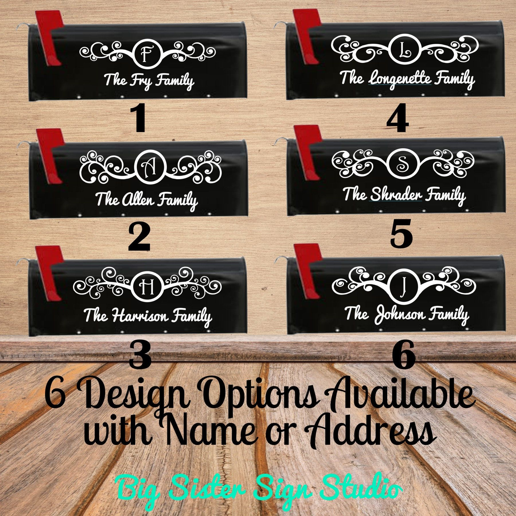 Personalized Mail Box Decals Address Decals Custom Mail Box Numbers Custom Mailboxes Mailbox Stickers Mailbox Numbers