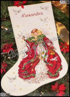 Dimensions Christmas Stocking Kits.Dimensions Gold Christmas Angel Stocking Counted Cross