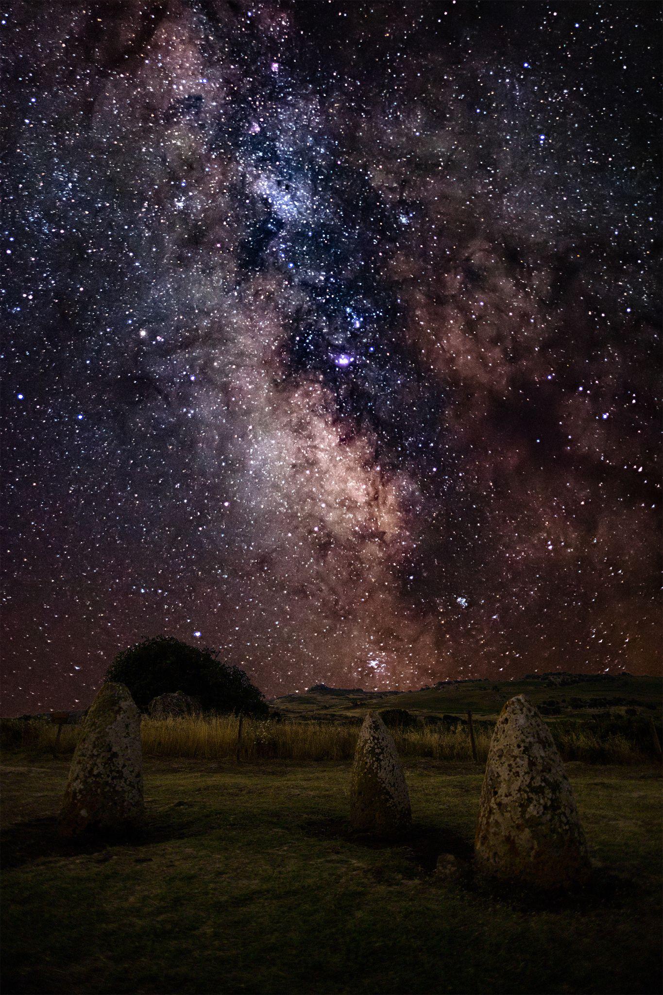 Nuragic Milkyway By Luka180 Landscape Night Italy Sardinia Stars Post Ancient Milkyway Sardegna Nightphotography Sky Photos Night Skies Milky Way