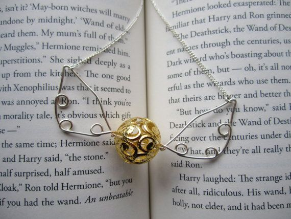 Golden Snitch Necklace Harry Potter Hogwarts by makingjiggy, $15.00 - I reopened my store finally!