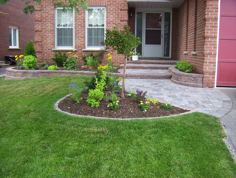 Front Entrance Landscaping, Front Yard Landscaping, Interlocking ...