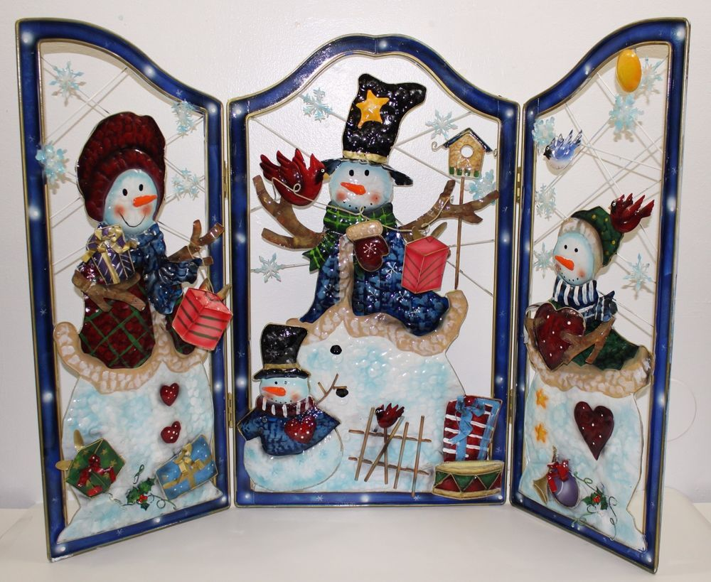 details about metal tri fold holiday christmas fireplace screen with rh pinterest com christmas fireplace screensaver free free christmas fireplace screensaver with sound