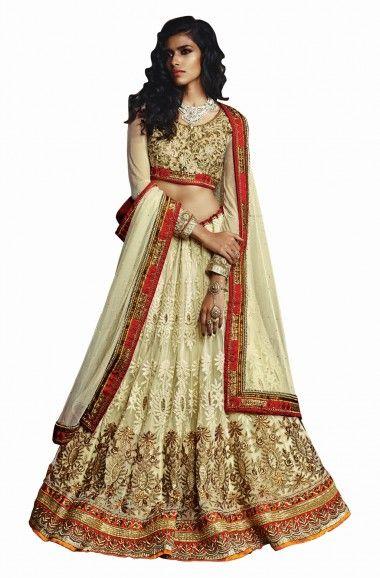 b3ac6abad0 Full gher mehendi function net fabric kalidar lehenga with glorious zari  and resham embroidered, kundan