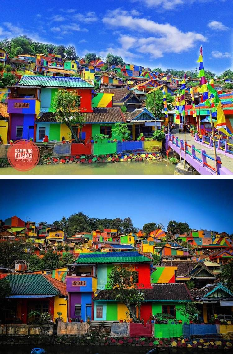 The Indonesian Town Of Kampung Pelangi Aka Rainbow Village Has Went From Drab To Fab With A Technicolor Paint Job