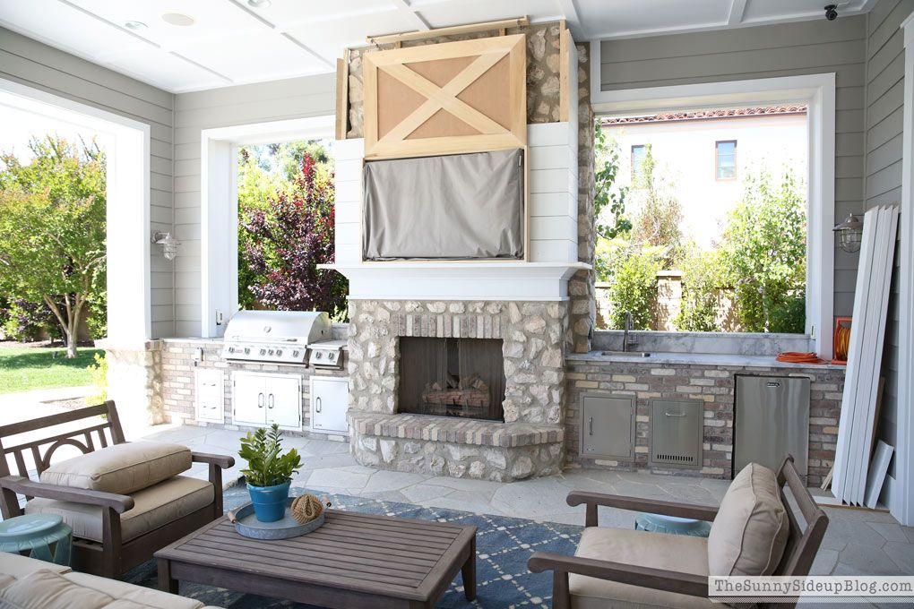 An Outdoor Project With A Side Of Rambling The Sunny Side Up Blog Outdoor Decor Backyard Outdoor Tv Covers Outdoor Living Space
