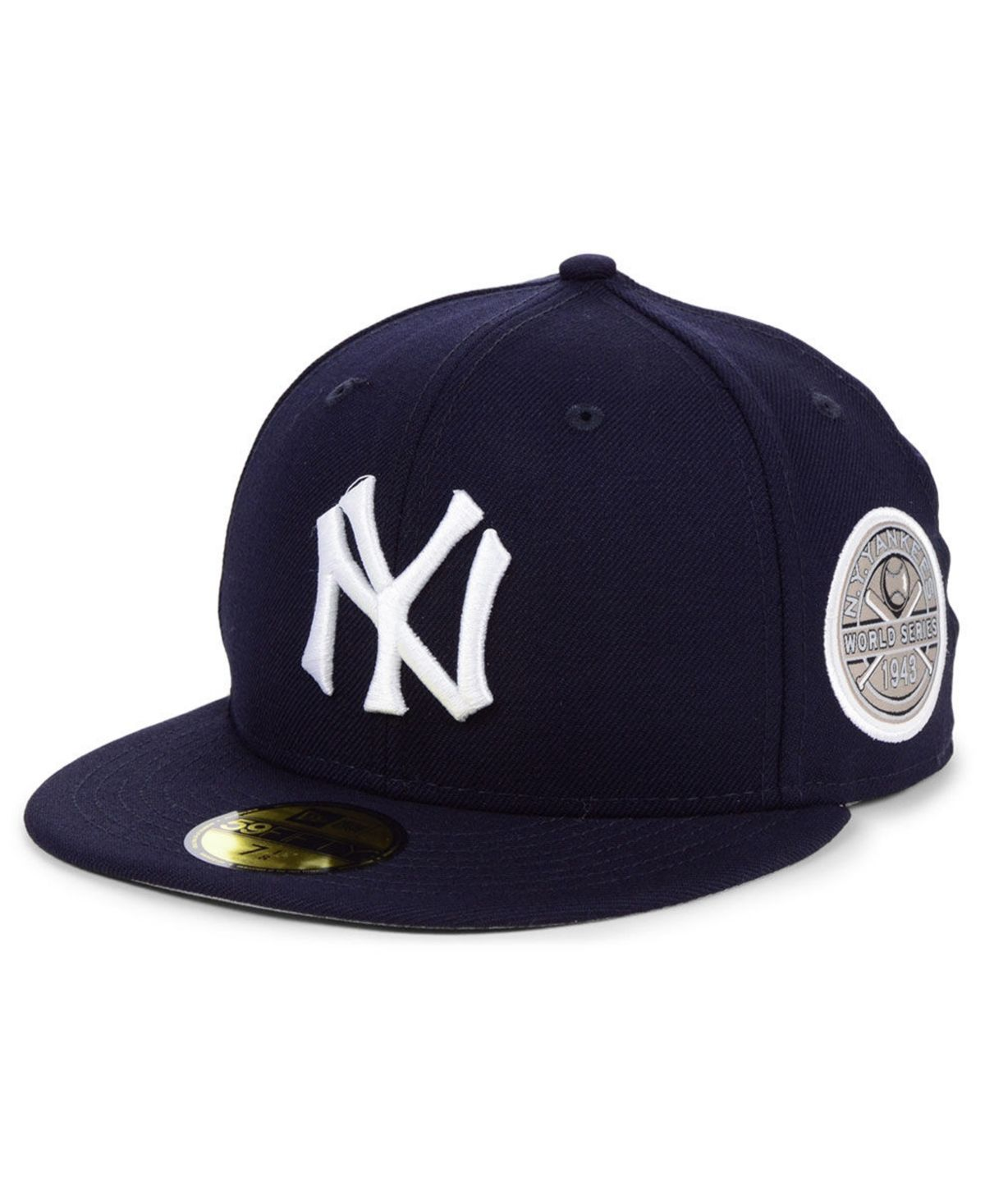 New Era New York Yankees World Series Patch 59fifty Fitted Cap Navy Navy Fitted Caps New Era Kids Shoes