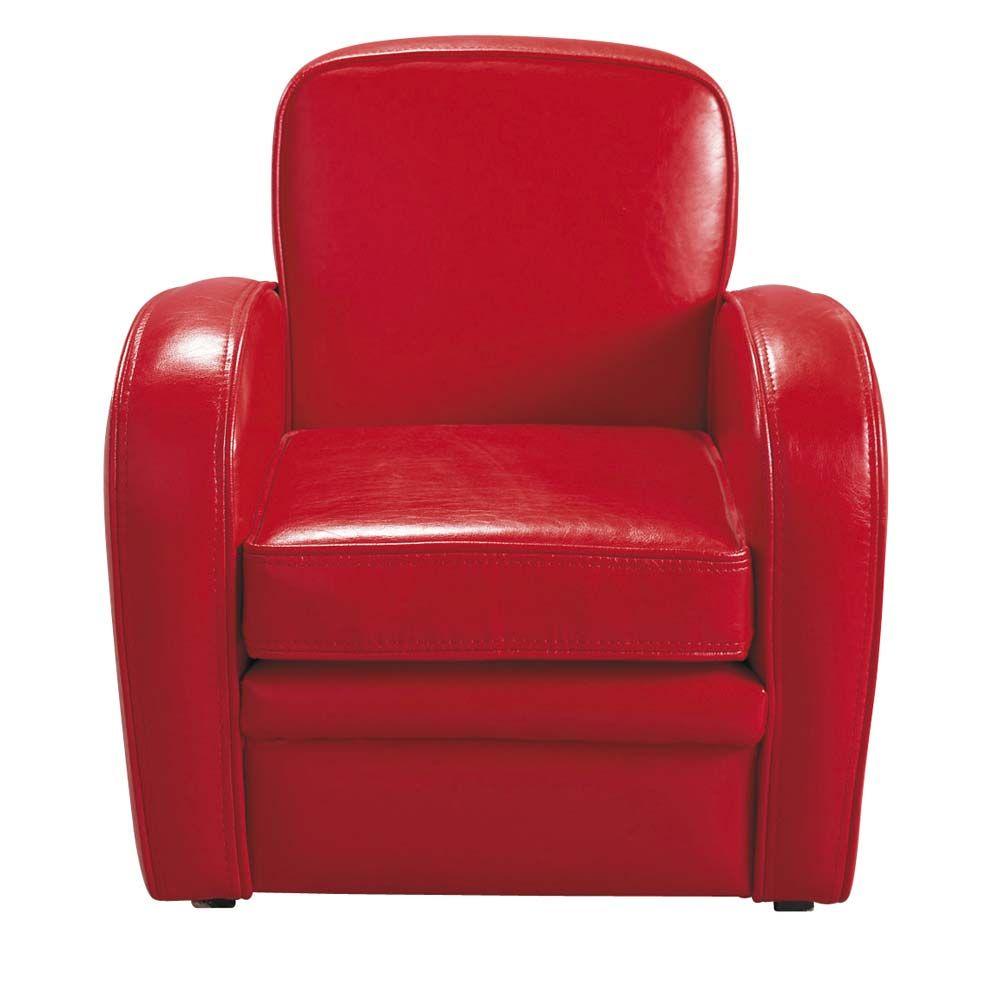 Rode Lederen Fauteuil.Rode Kinderclubzetel Kinderkamer Armchair Red Armchair En Tub Chair