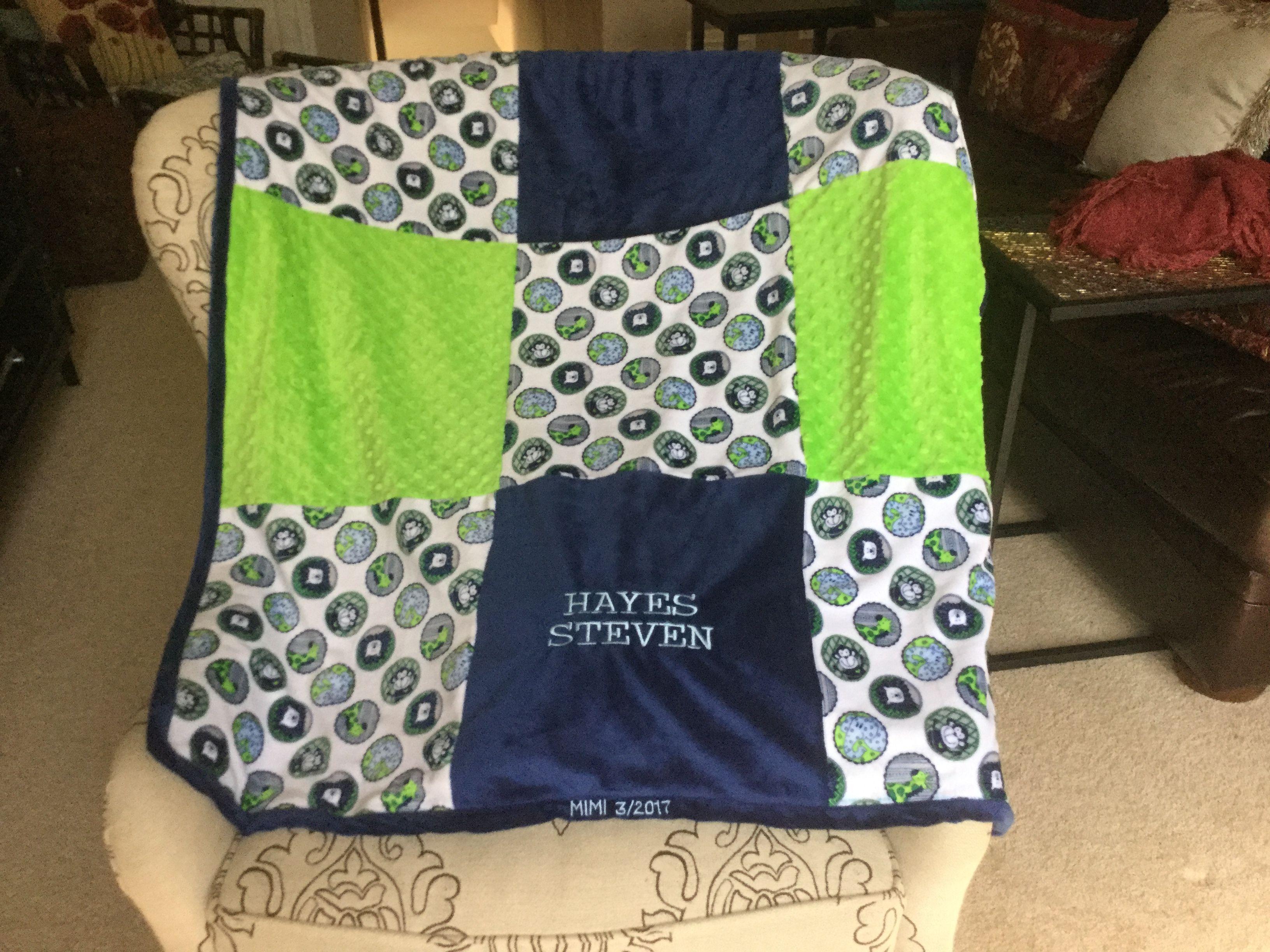 Baby boy minky blanket minky quilts pinterest blanket