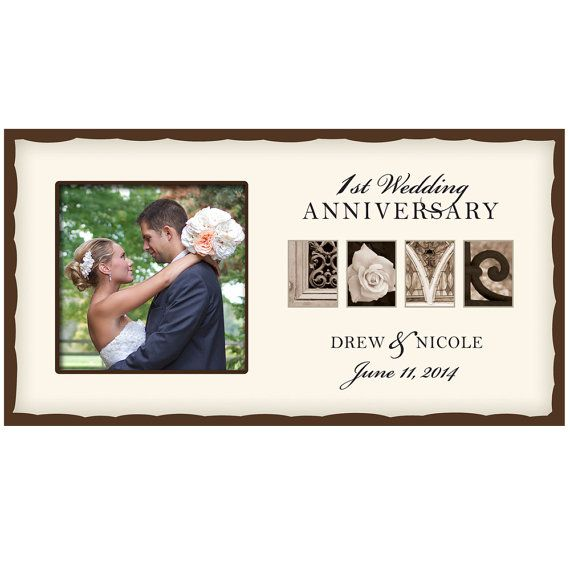 Personalized Wedding Love Photo Frame 1st Anniversary Picture Free Shipping
