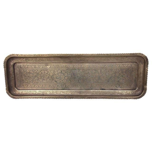 Long/thin brass tray option--might be good given dimensions of credenza $65