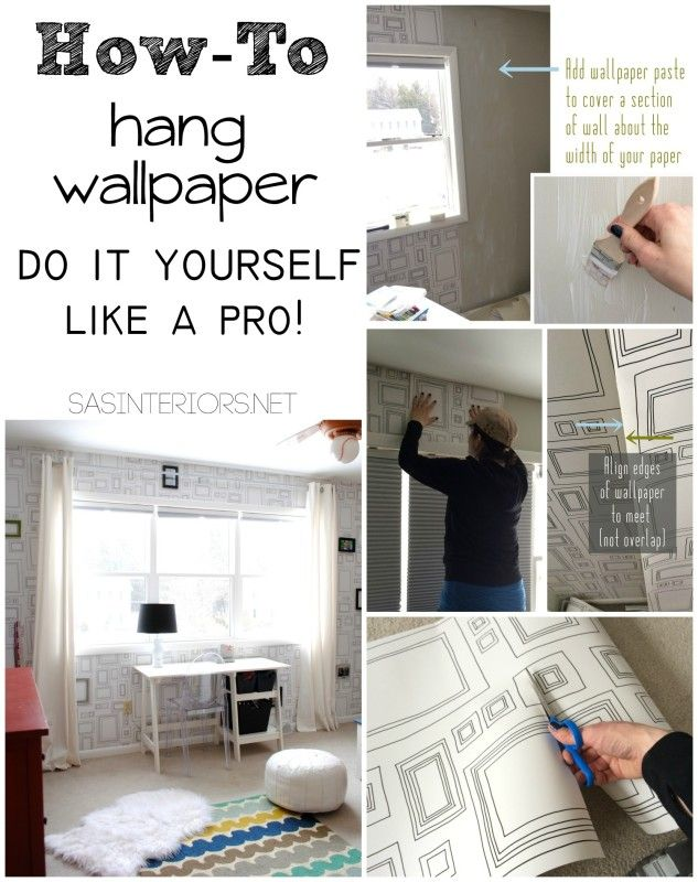 Tutorial Tips Tricks For Hanging Wallpaper Do It Yourself But Get The Results Of A Pro Splurge On The Paper Save Money On The Install