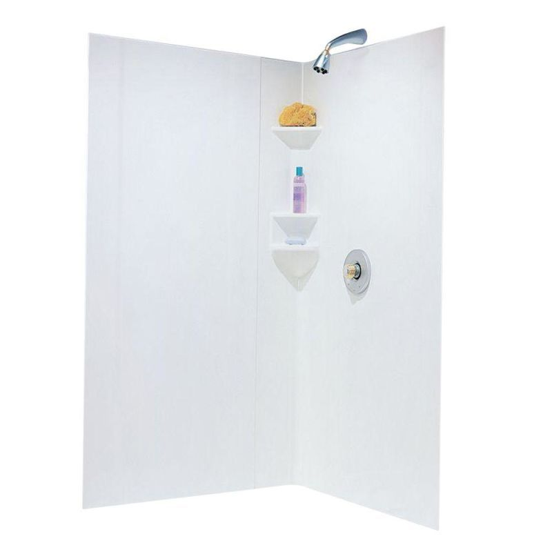Swanstone Sw Neo Dtf High Gloss Neo Angle Shower Wall Kit 35 5 To