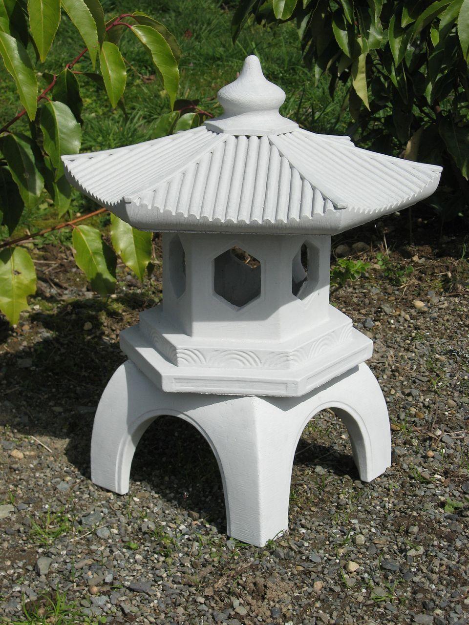 Japanese Concrete Pagoda Garden Statue
