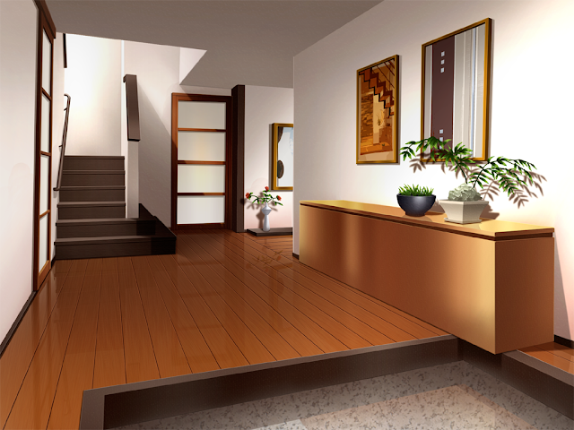 10 Fancy Living Room Kitchen Cenario Anime Fundo De Animacao