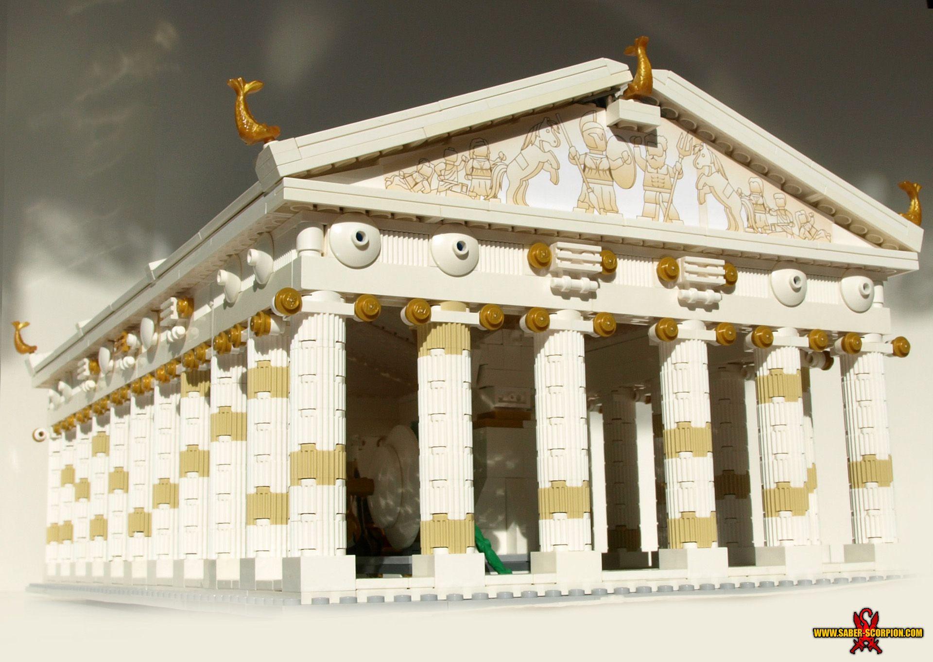 Lego Temple Of Athena 1 By Saber Scorpion Deviantart Com On