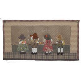 Set de costura por Reiko Kate, cuadro sunbonnets y Billy.  Incluye: Patrón (japones), telas, hilos y accesorios.