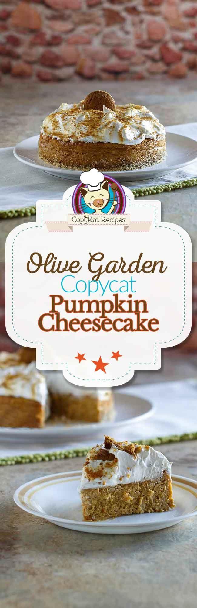olive garden pumpkin cheesecake recipe olive gardens pumpkin cheesecake and copycat recipes - Olive Garden Pumpkin Cheesecake