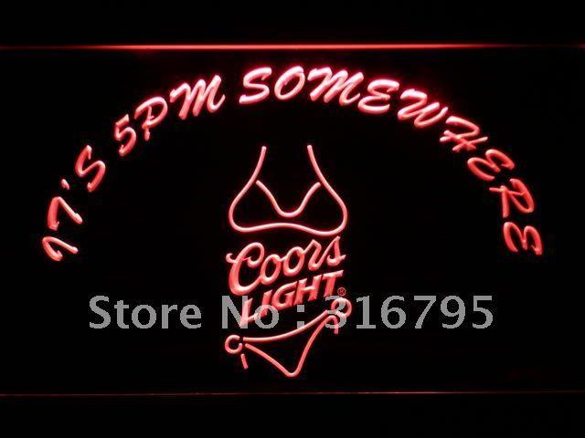 458 R Eto 5 Gde To Coors Bikini Neonovyj S Vklyucheniya Vyklyucheniya 7 Cvetov Na Vybor Led Neon Signs Neon Signs Neon Clock