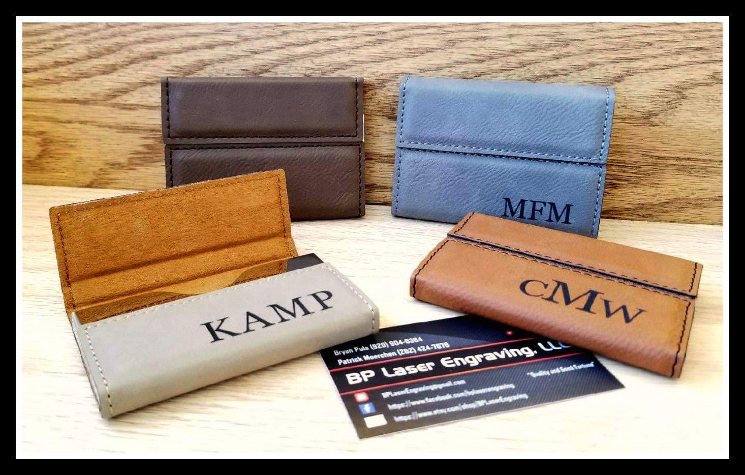 Business Card Holder Custom Leather Business Card Holder Etsy Leather Business Cards Corporate Gifts Leather Business Card Holder