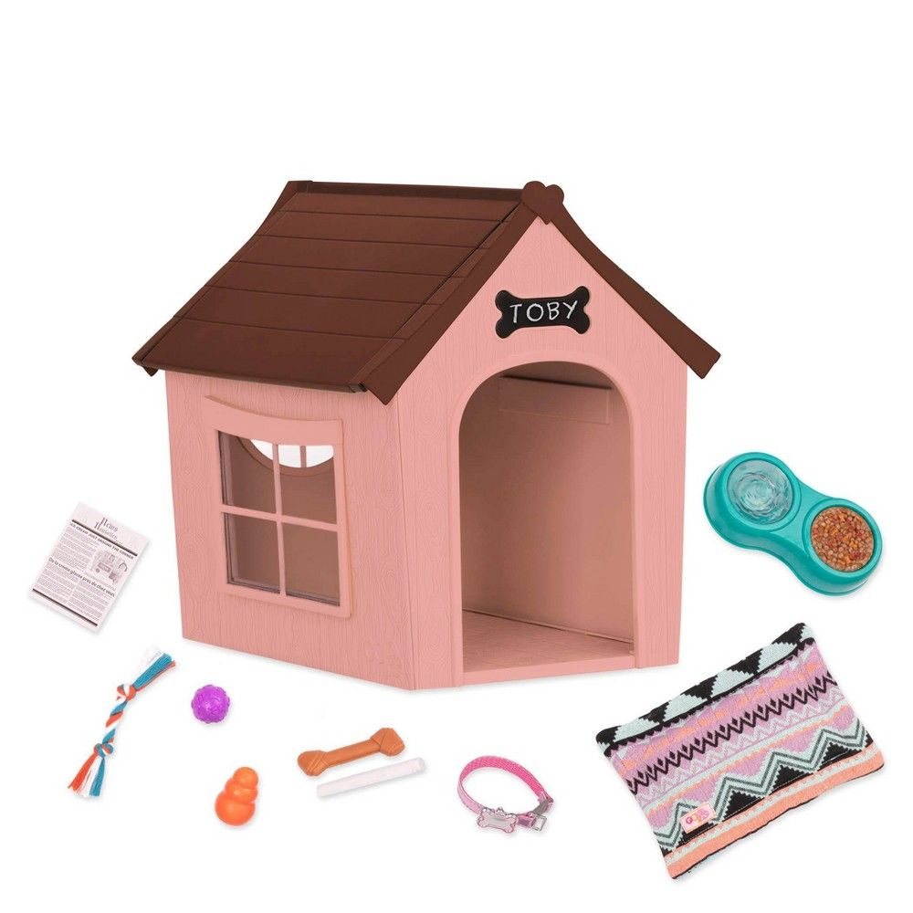 Our Generation Deluxe Dog House Set Og Puppy House Our