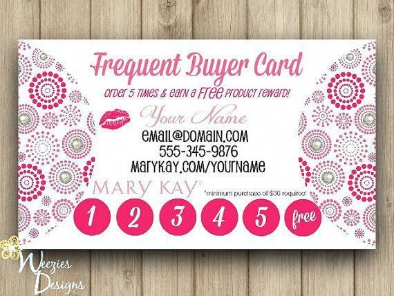 Mary Kay Frequent Buyer Card Business Card Who Wouldn T Want To Get Discounted Free Product For Mary Kay Marketing Mary Kay Business Cards Mary Kay Business
