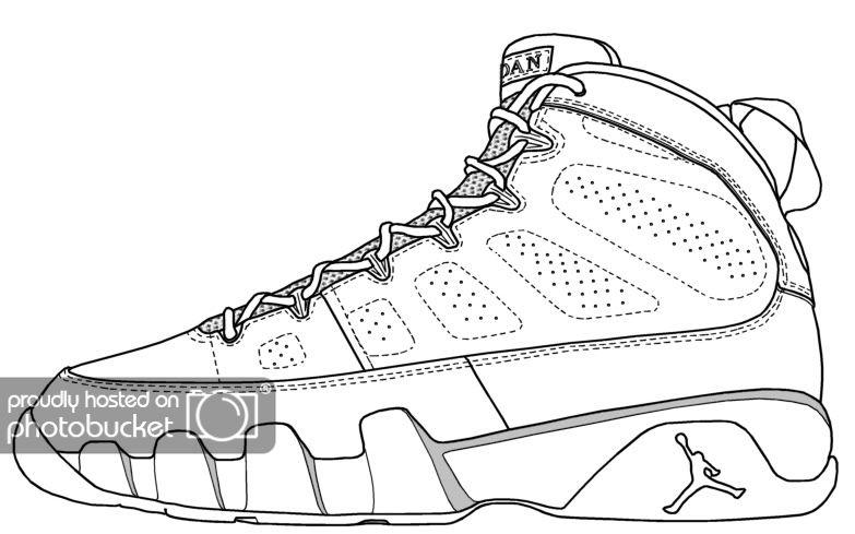 5th Dimension Forum View Topic Official Air Jordan Templates Jordan Coloring Book Shoe Template