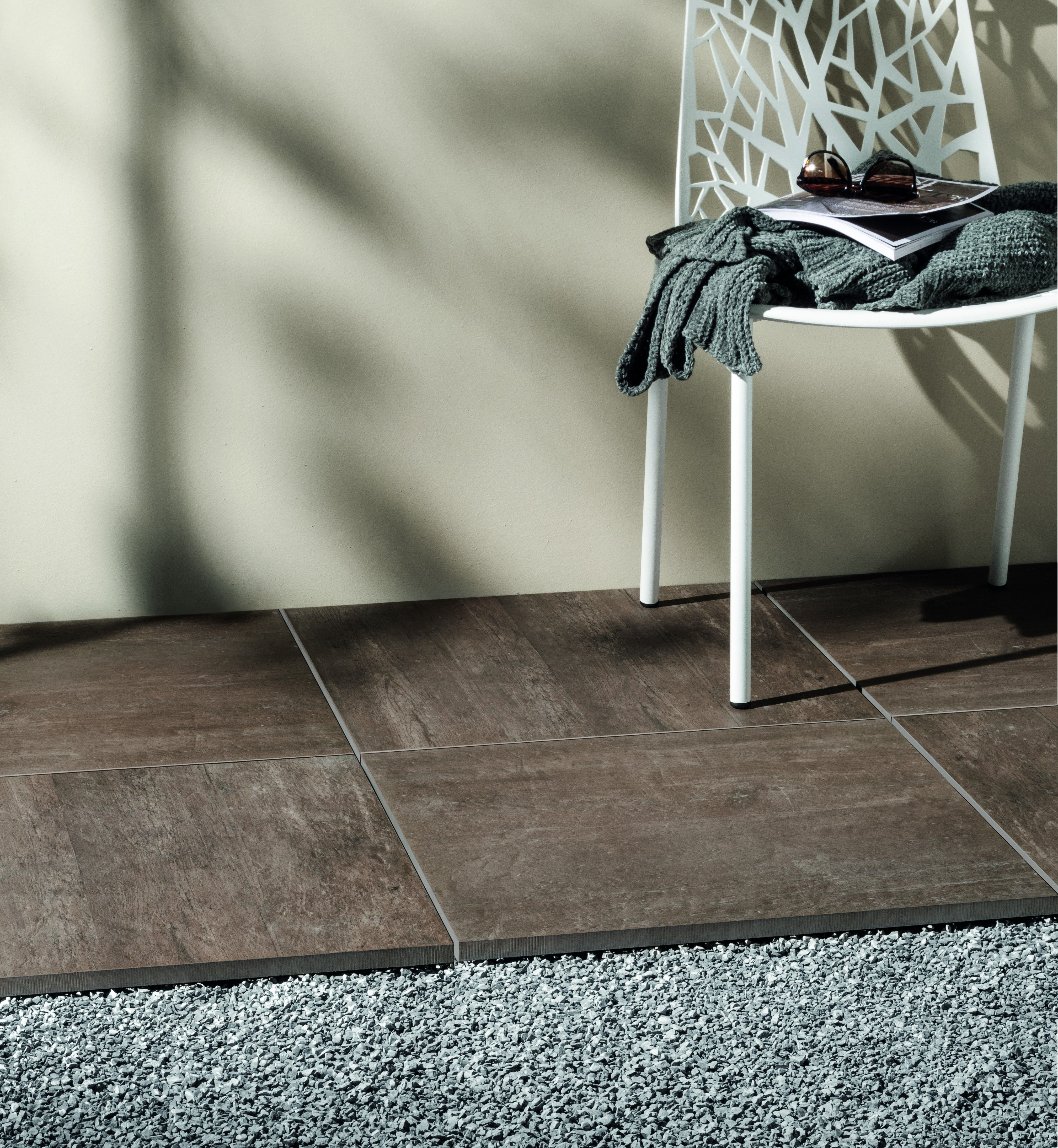 Directly On Soil And Gravel Out 2 0 Can Be Installed Top Of The Flooring Is Easy An Patio Tiles Stoneware Tile Outdoor