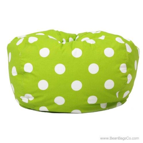 Comfort Research   Classic Bean Bag Chartreuse With White Dots | ON SALE:  $56.99 |