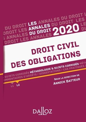 Annale Droit Civil De Obligation Methodologie Sujet Corrige Edition 2020 Annick Batteur Livre Dissertation L2