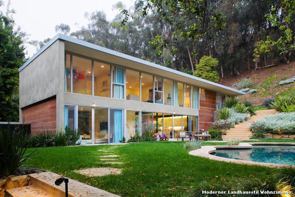 Moderner Landhausstil Haus moderner landhausstil wohnzimmer with mid century haus fassade
