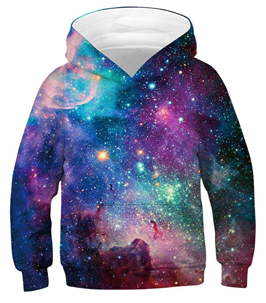 Christmas Kids Boys//Girls Galaxy Hoodie Sweatshirt Pullover Jumper Jacket Coat