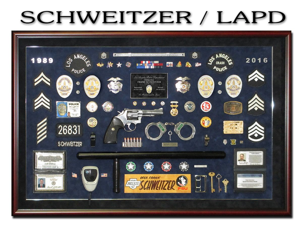 ideas about lapd badge police officer uniform police retirement shadowbox from badge frame for schweitzer lapd